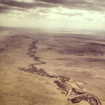 mud snake, new mexico landscape, aerial view