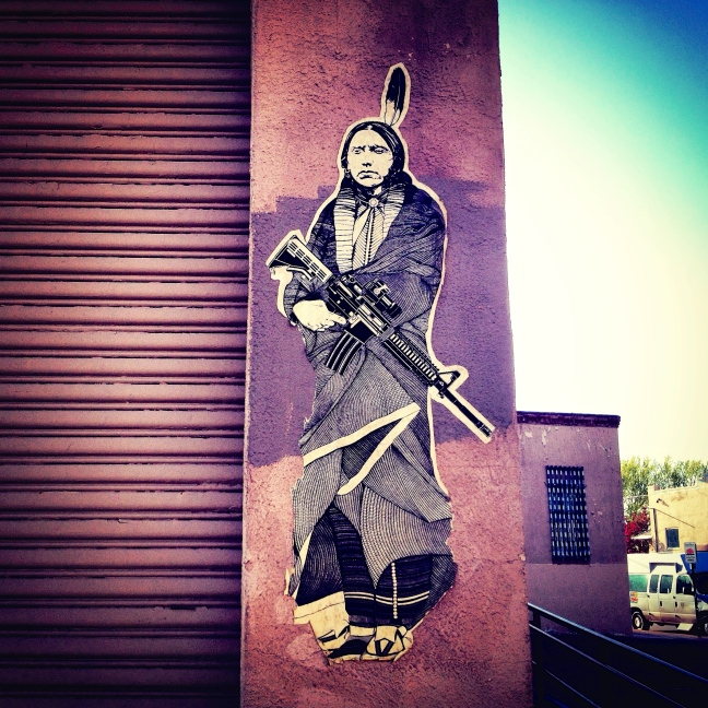 santa fe streetart, pasteup, new mexico